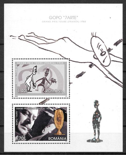 sellos cine Rumanía 2008