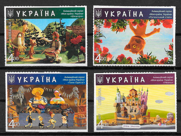 filatelia colección cómic Ucrania 2017