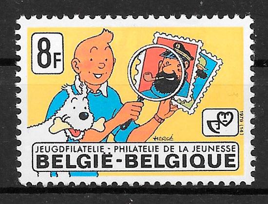 filatelia colección comic Bélgica 1979