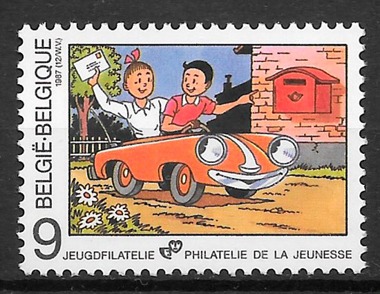 sellos cómic Bélgica 1987