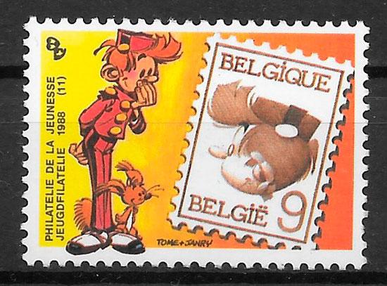 sellos cómic Bélgica 1988