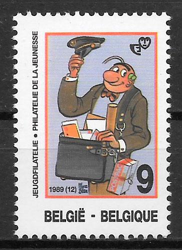 sellos cómic Bélgica 1989