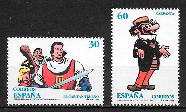 colección sellos cómic España 1995