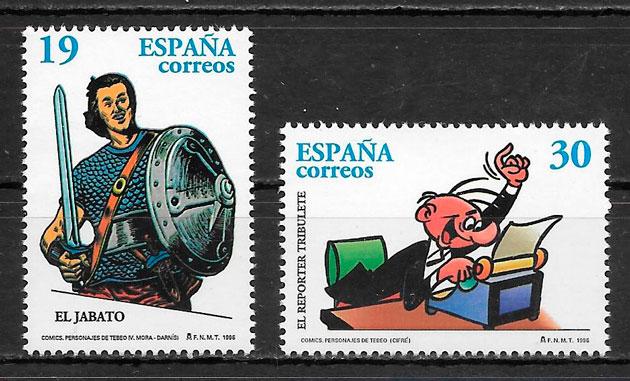 sellos cómic España 1996