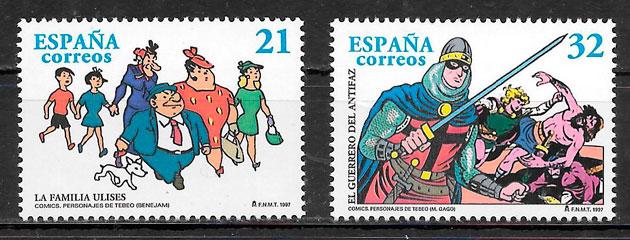 sellos cómic España 1997