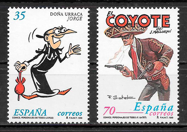 colección sellos cómic España 1999
