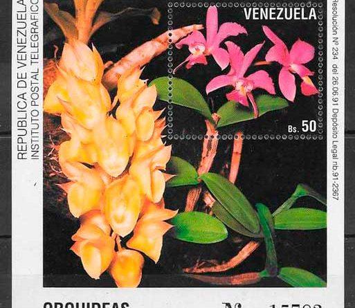 Sellos Orquídeas de Venezuela