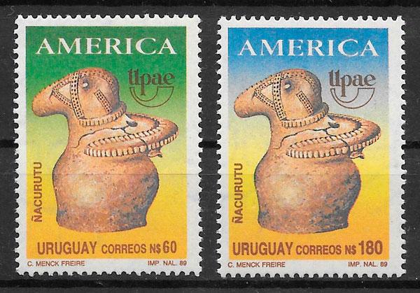 sellos UPAEP Uruguay 1989