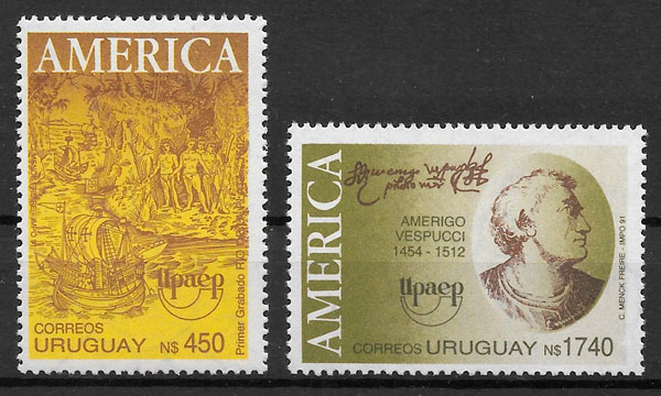 filatelia UPAEP Uruguay 1991