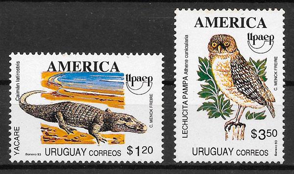 filatelia UPAEP Uruguay 1993