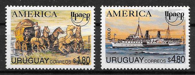 filatelia colección UPAEP Uruguay 1994