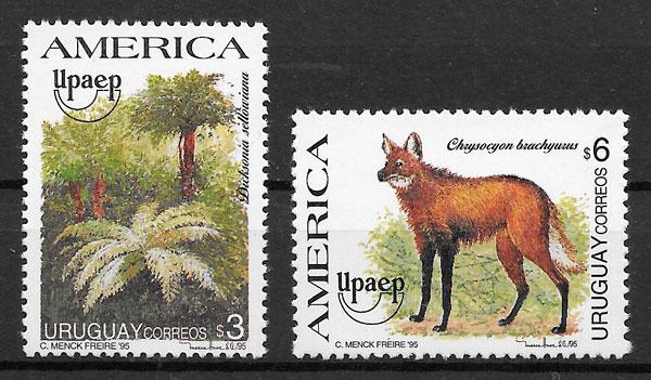 filatelia colección UPAEP Uruguay 1995