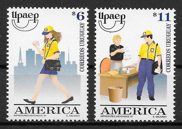 filatelia colección UPAEP Uruguay 1997