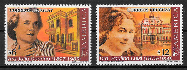 filatelia colección UPAEP Uruguay 1998