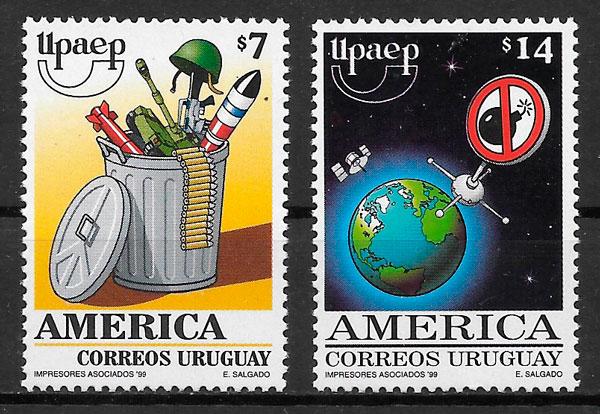 filatelia colección UPAEP Uruguay 1999