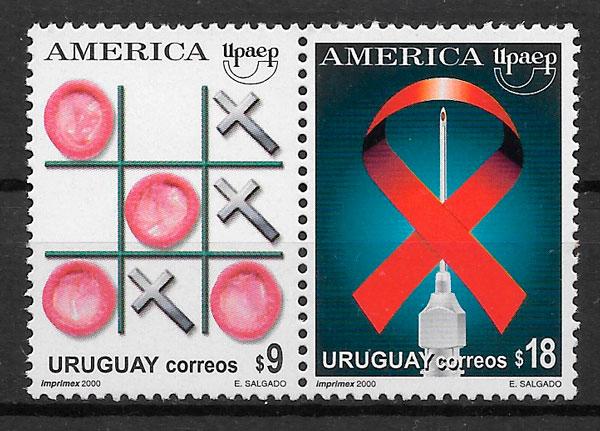 sellos UPAEP Uruguay 2000