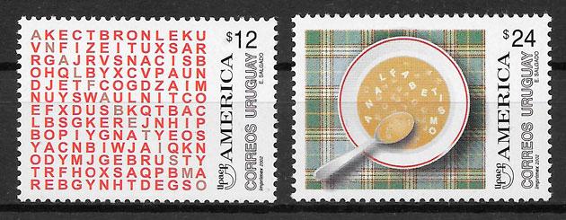 sellos UPAEP Uruguay 2002