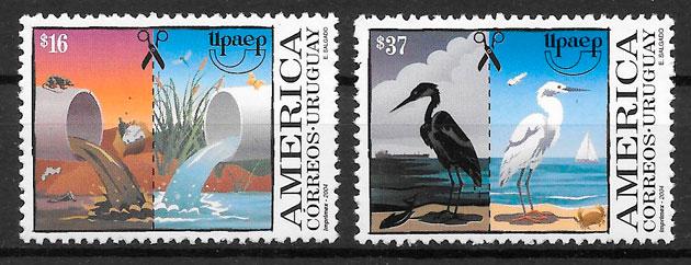 filatelia UPAEP Uruguay 2004