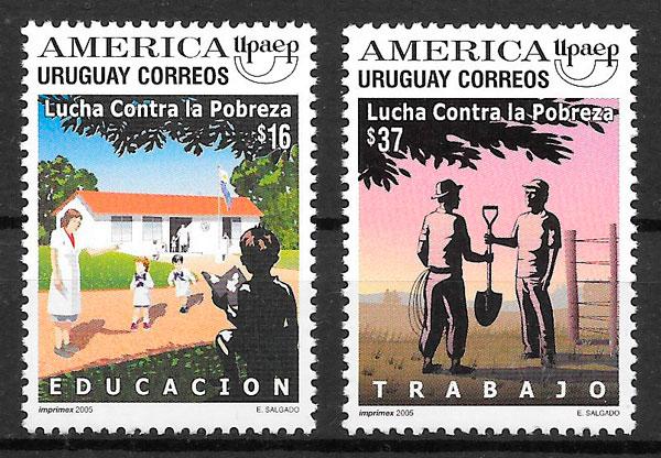 filatelia UPAEP Uruguay 2005