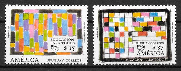 filatelia colección UPAEP Uruguay 2007