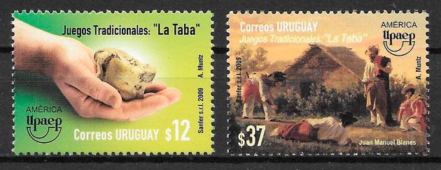 filatelia colección UPAEP Uruguay 2009