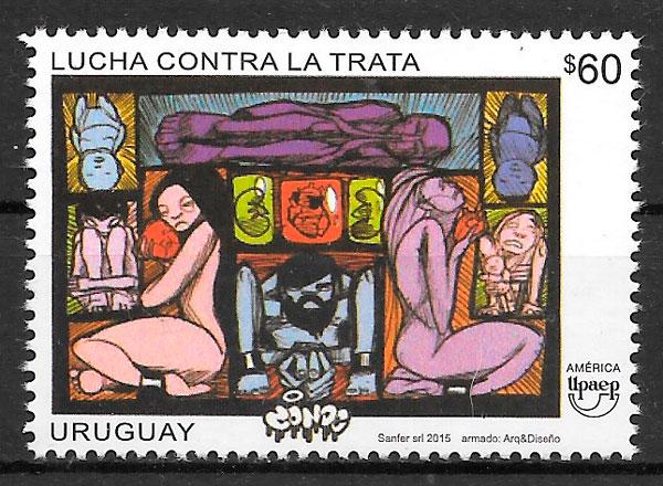 Sellos América UPAEP de Uruguay